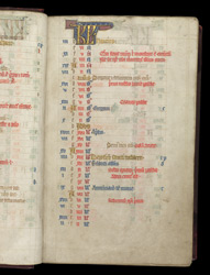 March, In The Calendar Of A Durham Missal